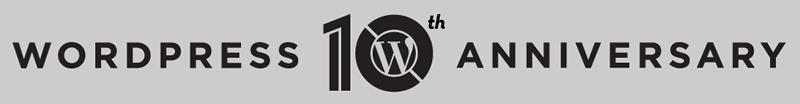 WordPress 10周年記念ロゴ