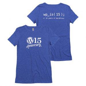 WordPress 15周年記念の T シャツ
