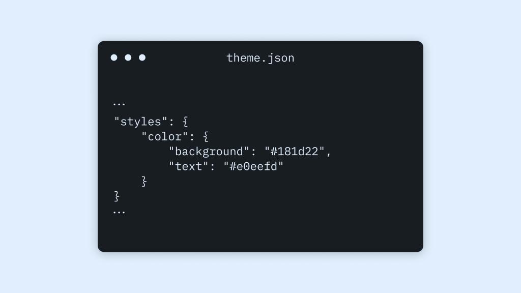 theme.json を使ったテーマデザインの設定